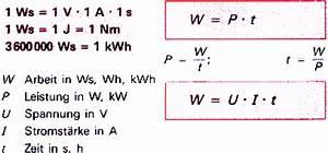 Elektrische Arbeit Berechnen : elektrische arbeit leistung wirkungsgrad ~ Themetempest.com Abrechnung