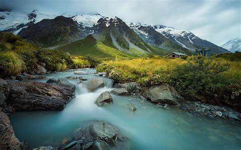 landscape nature rocky mountains  snow mountain