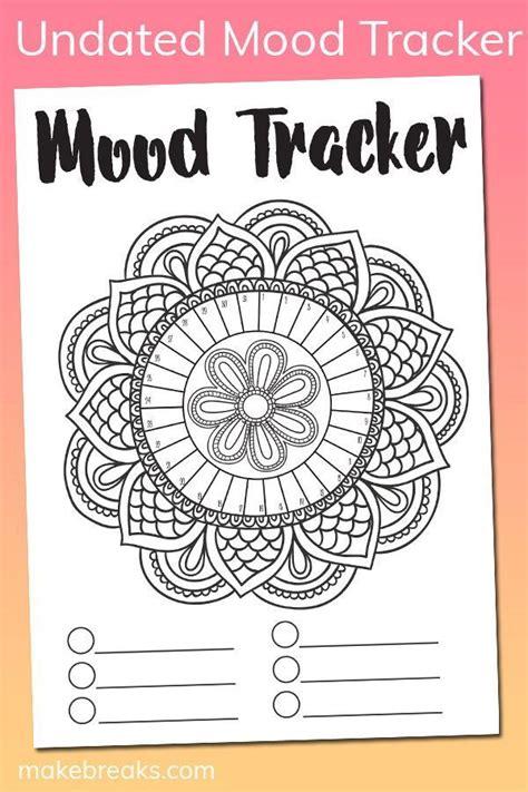 undated mandala mood tracker tracking page bullet