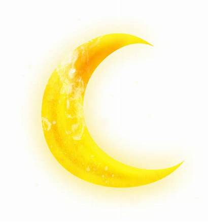 Moon Transparent Clipart Yellow Lune Half Crescent