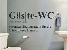 Wandtattoo GästeWC Definition WANDTATTOODE