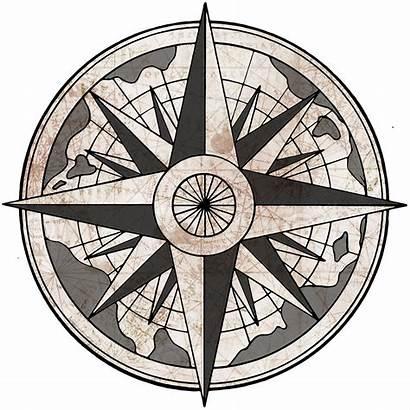Compass Rose Nautical Transparent Drawing Antique Clipart