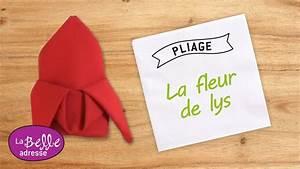 Fleur En Papier Serviette : pliage de serviette en papier en forme de fleur de lys labelleadresse youtube ~ Melissatoandfro.com Idées de Décoration