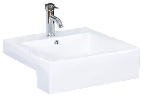 American Imaginations Bathroom Semi-recessed Rectangle