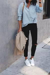 Style Chic Femme : le style casual chic 32 tenues confortables pour femmes styl es mode femme casual chic ~ Melissatoandfro.com Idées de Décoration