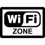 Wifi Zone Icon Signal Rectangular Symbol Signs