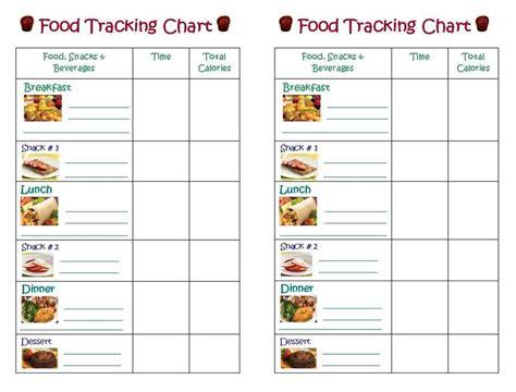 food tracking chart printable