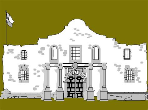 Free Printable Coloring Page...remember The Alamo!