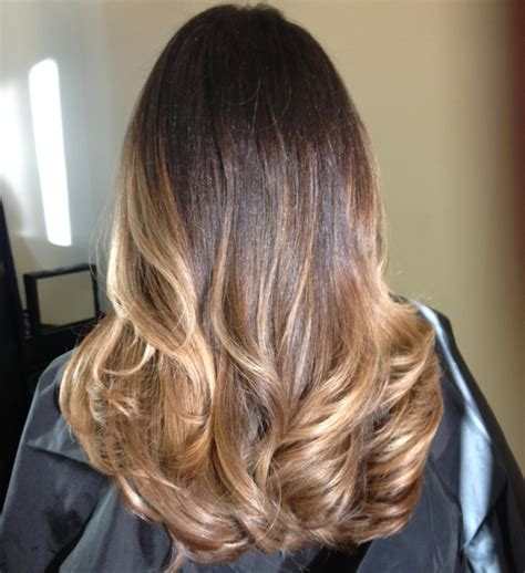 ombre hair color  brunettes hair  natalia