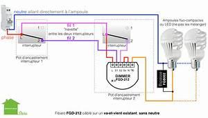 Cabler Un Va Et Vient : fibaro fgd 212 dimmer 2 micromodule interrupteur variateur de lumi re sans neutre zwave ~ Voncanada.com Idées de Décoration