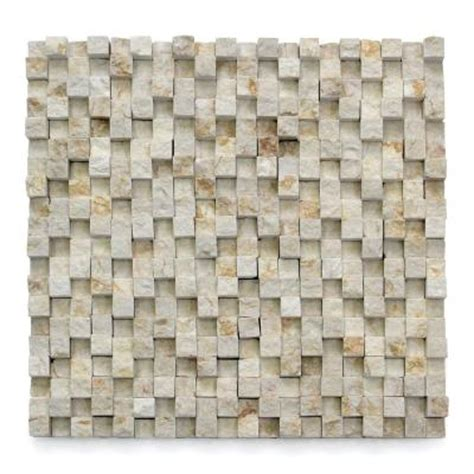 Solistone Tile Home Depot by Solistone Cubist Cezanne 12 In X 12 In X 22 2 Mm Marble