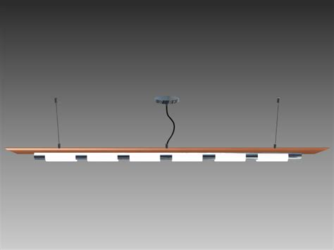 hanging fluorescent lights 3d model 3d studio 3ds max