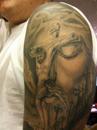 Jesus Cross Tattoos Tattoo Christ Shoulder Inside