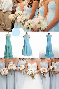 ice blue bridesmaid dresses | Tulle & Chantilly Wedding Blog