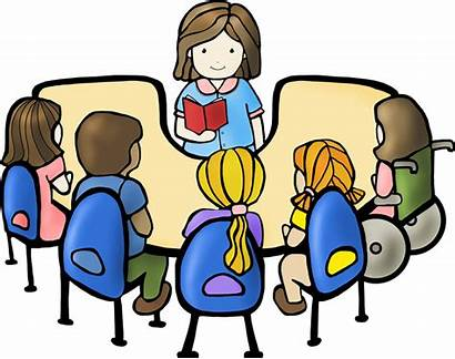 Reading Clipart Students Clip Guided Transparent Children