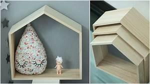 Etagere Murale Maison : un nouveau regard des petites tag res en forme de maison chez ma caisse jouets ~ Teatrodelosmanantiales.com Idées de Décoration
