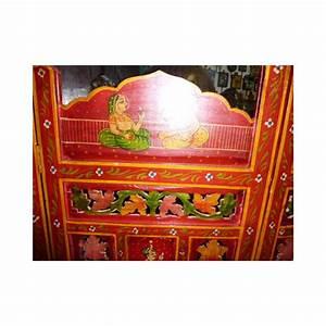 Tete De Lit Paravent : paravent t te de lit moghol rouge meuble indien et d coration int rieure indienne du rajasthan ~ Teatrodelosmanantiales.com Idées de Décoration