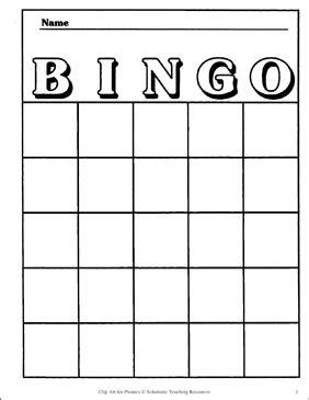 bingo card template printable bingo  skills sheets