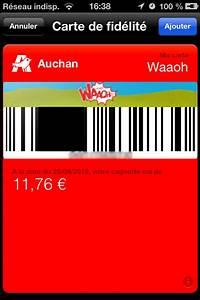 Carte De Fidelité Auchan Fr Activer : passbook les cartes de fid lit compatibles en france ~ Dailycaller-alerts.com Idées de Décoration