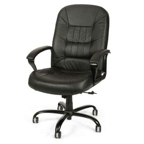 ofm 800 l quot big quot black leather chair office zone 174