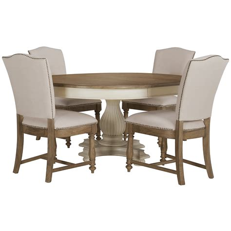 City Furniture Coventry TwoTone Round Table & 4