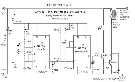 electric fence 20kv pulses for perimeter defense