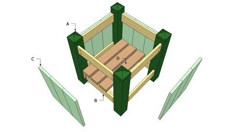 woodwork free wooden flower pot plans pdf plans