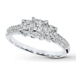 2 ct engagement ring engagement ring 1 2 ct tw princess cut 10k white gold
