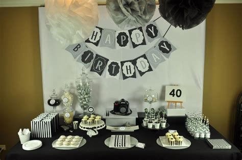 40th Birthday Decorations Ideas by Mon Tresor Sweet Table Contest 6