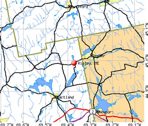 offenders in maine map ripley maine me 04930 profile population maps real