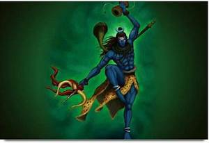 Amy 3D Abstract Lord Shiva Dancing Art 3D Poster - Nature