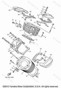 Yamaha Motorcycle 2003 Oem Parts Diagram For Cylinder