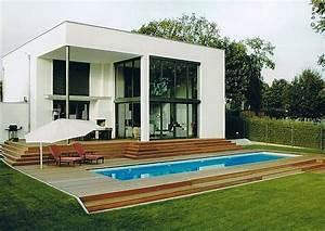 Kleiner Garten Mit Pool : modernes eigenheim mit swimmingpool pflegeleichte moderne gartengestaltung ~ Markanthonyermac.com Haus und Dekorationen