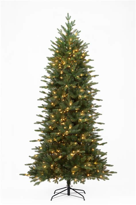 the 8ft pre lit slim woodland pine tree
