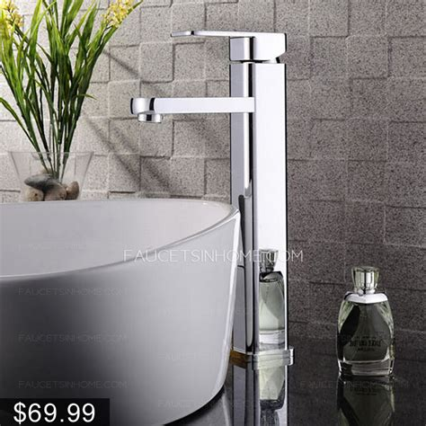high  top mounted square vessel bathroom sink faucet