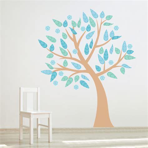 season tree printed wall decal
