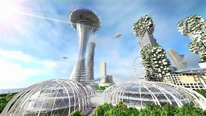 Future Futuristic Concept Buildings Cities Vision Skyline
