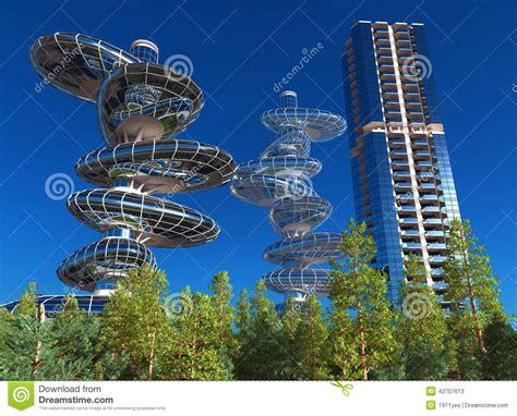 Wohnen Der Zukunft 3d Das Haus Im Computer by H 228 User Der Zukunft Stock Abbildung Bild 42707613