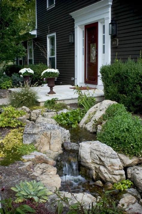 front yard water features boost  curb appeal ce