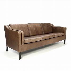 Sofa Danish Design : brown leather danish vintage design three seat sofa retro ~ Eleganceandgraceweddings.com Haus und Dekorationen