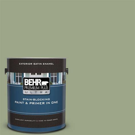 behr premium plus ultra 1 gal ppu11 07 clary satin enamel exterior paint and primer in
