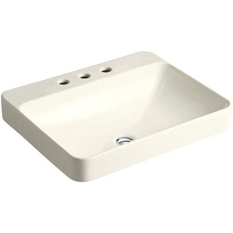 above counter bathroom sinks kohler vox rectangle above counter vitreous china vessel 15344