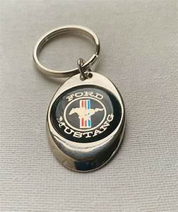 Ford Mustang Keychain Chrome Metal key chain | eBay
