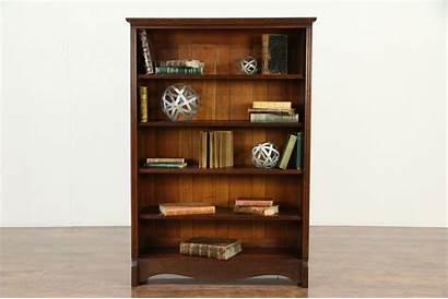 Antique Bookcase Library Victorian Bookshelf Oak Cabinet