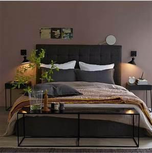 Quelle Couleur De Mur Avec Des Meubles En Chene : chambre couleur murs taupe avec literie couleur chocolat ~ Nature-et-papiers.com Idées de Décoration
