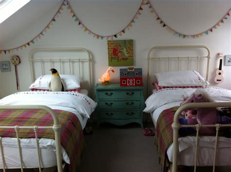 Vintage Inspired Shared Girls' Room