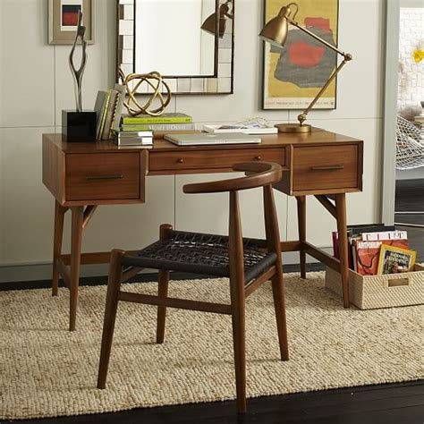 mid century wall desk west elm mid century desk acorn west elm
