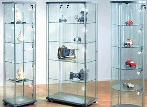 Vitrine En Verre : vitrine en verre colonne exposition carr e 4 tag res ~ Teatrodelosmanantiales.com Idées de Décoration