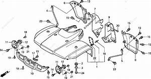 Honda Atv 2001 Oem Parts Diagram For Front Fender