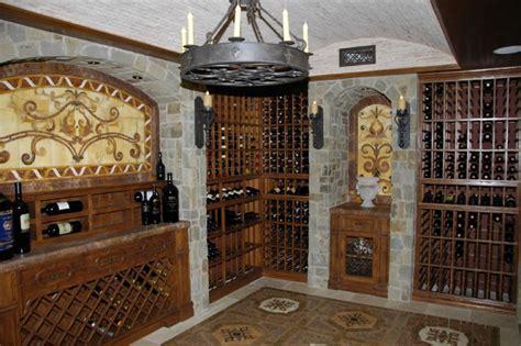 world style mediterranean wine cellar orange